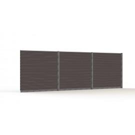 WPC komposit 3 ekstra hegns moduler til hegn i 180cm