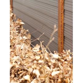 Hegns stolpe corten 180cm (Rust look)