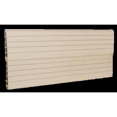 vedligeholdelsesfrit hegns komposit i hvid WPC