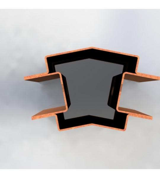 Stolpe 22 grader 210cm, corten (Rust look), opsætning af hegn.