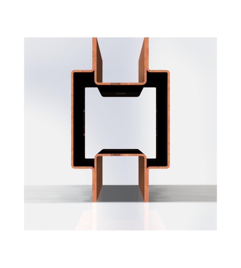 Samle stolpe i corten 145cm, giver et flot rust look.